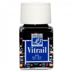 Витражная краска по стеклу и керамике, Синяя, 50 мл., 025, Vitrail Lefranc&Bourgeois
