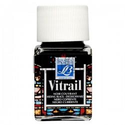 Витражная краска по стеклу и керамике, Черная, 50 мл., 267, Vitrail Lefranc&Bourgeois