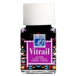 Витражная краска по стеклу и керамике, Пурпурная, 50 мл., 350, Vitrail Lefranc&Bourgeois