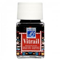 Витражная краска по стеклу и керамике, Ярко-красная, 50 мл., 433, Vitrail Lefranc&Bourgeois