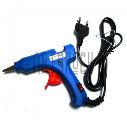 Термопистолет с кнопкой включения Hot Melt Glue Gun, 20W, 110V-240V, 50Hz/60Hz, Ø7-8 мм., HELI