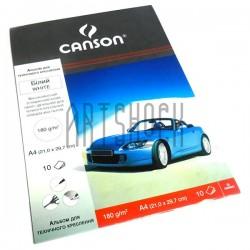 Альбом для технического черчения, А4, 10 листов, 180 г/м², Canson