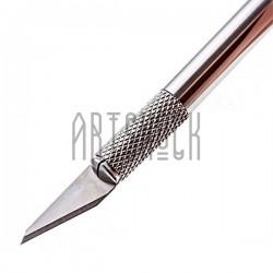 Макетный нож - скальпель с цанговым зажимом для макетирования, фигурной резки бумаги и вытынанок