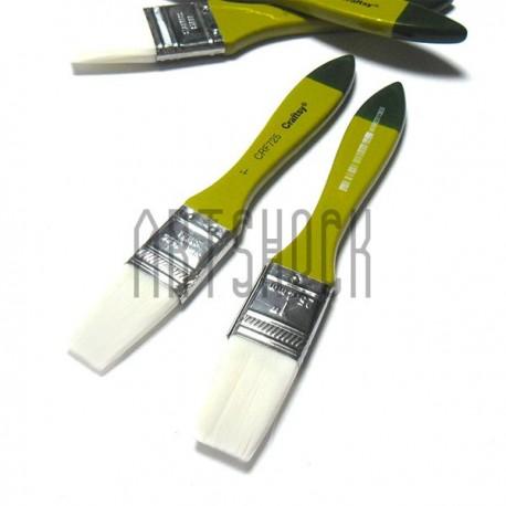 Кисть синтетическая, флейц плоская, 25.4 мм., Craftsy