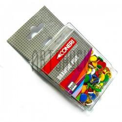 Кнопки канцелярские цветные, 300 штук, Coneri