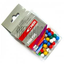 Кнопки-гвоздики канцелярские цветные, 200 штук, Coneri