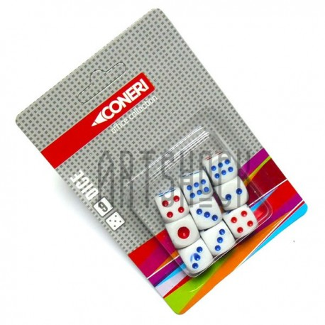 Кости - кубики цветные, 9 штук, Coneri