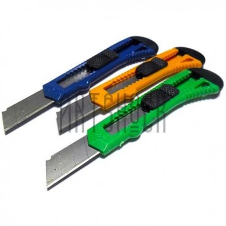 Нож канцелярский пластиковый ESTILETE 18 мм., Jocar Office   Купить канцелярские ножи в Киеве и Украине