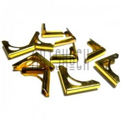 """Набор металлических уголков для блокнотов (альбомов) """"золото"""" - 14 х 14 х 2 мм., 10 штук"""