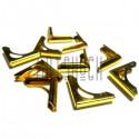 """Набор уголков для альбомов, блокнотов и открыток, """"золото"""", 14 x 14 x 2 мм., 10 штук, REGINA"""