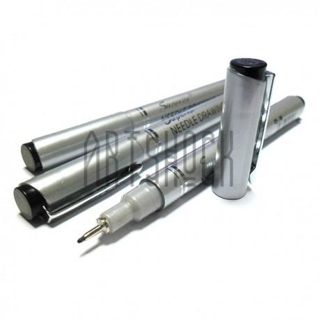 Рапидограф Needle drawing pen, темно - серый 0.05 мм., Superior