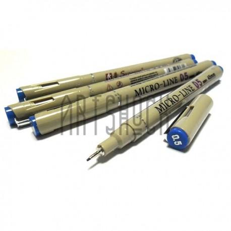 Рапидограф MICRO-LINE, синий, 05 (0.45 мм.), Superior