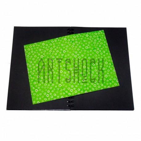Тканевая бумага на клеевой основе (Fabric Sticker), белая ромашка на зелёном фоне, 210 х 295 мм.