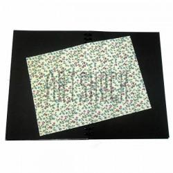 Тканевая бумага на клеевой основе (Fabric Sticker), плетущиеся розы на светло-жёлтом фоне, 210 х 295 мм.