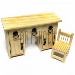 """Деревянная заготовка для декупажа и росписи """"Стол со стулом"""", Maries"""