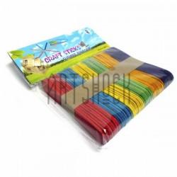 Набор цветных декоративных палочек для рукоделия (палочки для мороженого), 9.5 x 1.7 см., 50 штук, Craft Sticks