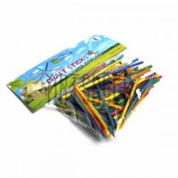 Набор цветных декоративных спичек для рукоделия и творчества, 5 x 0.2 см., 100 штук, Craft Sticks