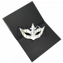 """Венецианская карнавальная маска """"Коломбина влюблённая"""", с резинкой, 21 см. x 13.5 см."""