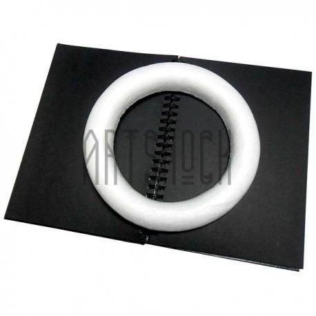 """Фигурка из пенопласта """"Основа для венка"""", диаметр 25 см., толщина стенки 4 см."""