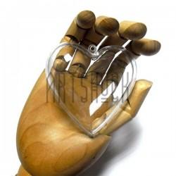 """Фигурка """"Сердце"""" прозрачная акриловая разъёмная, Ø8 см."""