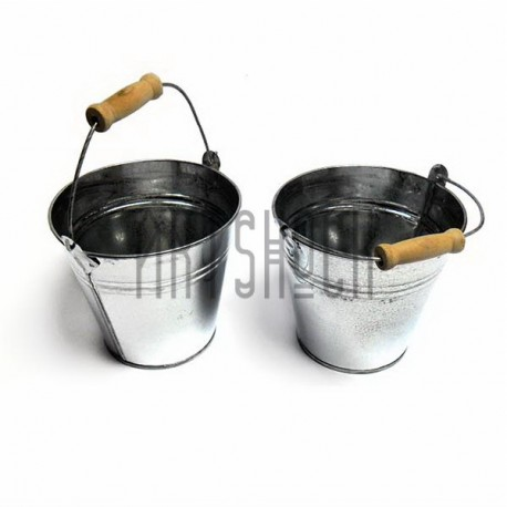 """Заготовка металлическая оцинкованная """"Ведро с деревянной ручкой"""", Maries"""
