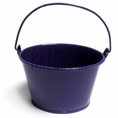 """Заготовка металлическая оцинкованная цветная """"Ведро овальное"""", фиолетовое, Maries"""
