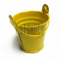 """Заготовка металлическая оцинкованная цветная """"Ведро"""", жёлтое, Maries"""