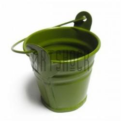 """Заготовка металлическая оцинкованная цветная """"Ведро"""", грязно-зелёное, Maries"""