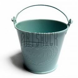 """Заготовка металлическая оцинкованная цветная """"Ведро с надписью"""", голубое, Maries"""