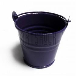 """Заготовка металлическая оцинкованная цветная """"Ведро"""", фиолетовое, Maries"""