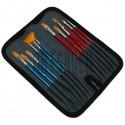Набор кистей синтетических в пенале (холдере) на молнии, 12 штук, REGINA