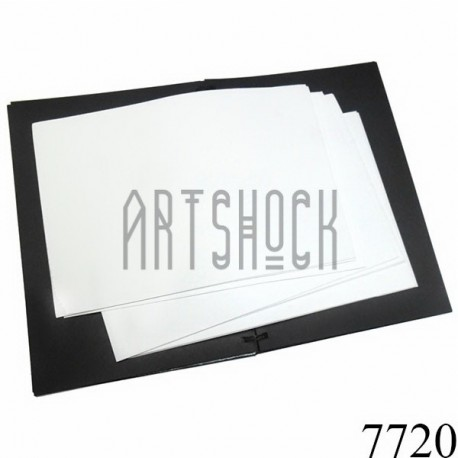 Фоамиран белый (пластичная замша), толщина 0.5 мм., 21 х 30 см.