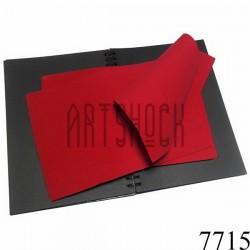 Фоамиран красный темный (пластичная замша), толщина 1 мм., 20 x 30 см.
