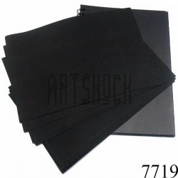Фоамиран чёрный (пластичная замша), толщина 1 мм., 20 x 30 см.