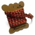 Тесьма декоративная Косичка с люрексом, толщина - 1 см., длина - 1 м., REGINA