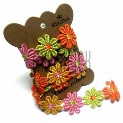 Тесьма декоративная Ромашка цветная, толщина - 2.8 см., длина - 0.8 м., REGINA