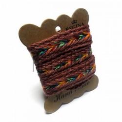 Джутовая тесьма (веревка шпагат), плетеная натуральная коричневая, ширина - 2 см., толщина - 2 мм., длина - 1 м., REGINA