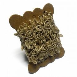 Джутовая тесьма (веревка шпагат), плетеная натуральная пеньковая, ширина - 4 см., толщина - 2 мм., длина - 1 м., REGINA