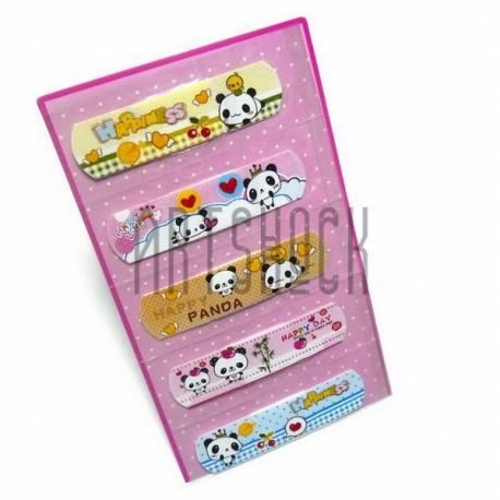 """Набор дизайнерского пластыря """"Happy Panda"""", 5 штук, Popular Fashion"""