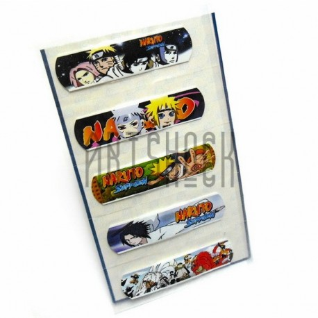 """Набор дизайнерского пластыря """"Naruto"""", 5 штук, Popular Fashion"""