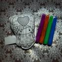 """Игрушка - раскраска """"Девочка с сердцем"""" моющаяся + набор фломастеров 4 цвета, 11.5 x 9 см., Enjoy"""