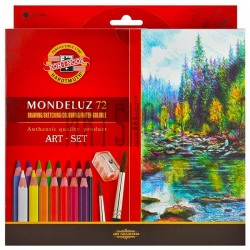 Набор карандашей Mondeluz, 72 цв. + кисть + точилка, Koh-i-noor