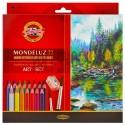 Набор акварельных карандашей Mondeluz, 72 цв. + кисть + точилка, Koh-i-noor