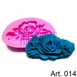 Силиконовый молд 3D (вайнер), цветок, размер 4.2 х 7.7 см., толщина 1.4 см., REGINA