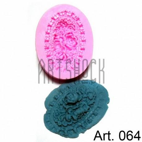 Силиконовый молд 3D (вайнер), букет цветов, размер 5 х 6.5 см., толщина 1.1 см., REGINA