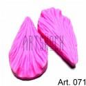 Силиконовый молд 3D (вайнер), лепесток гибискус 2 части, размер 5.3 х 3 см., толщина 2.3 см., REGINA