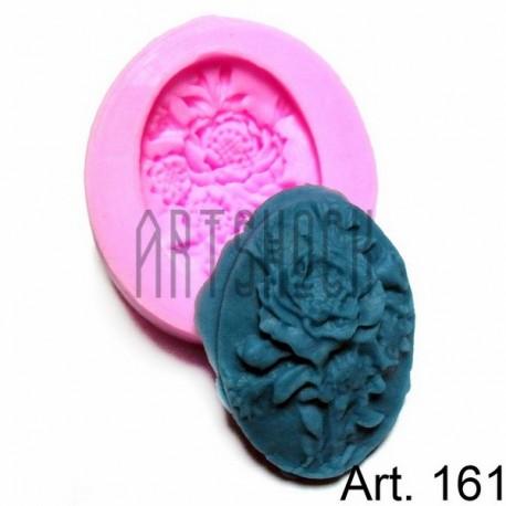 Силиконовый молд 3D (вайнер), букет цветов, размер 4.5 х 5 см., толщина 1.1 см., REGINA
