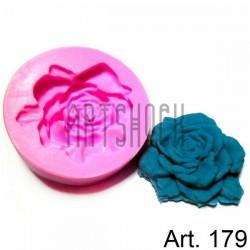 Силиконовый молд 3D (вайнер), роза, диаметр 6 см., толщина 1.3 см., REGINA