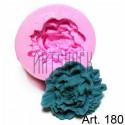Силиконовый молд 3D (вайнер), цветок, диаметр 5.5 см., толщина 2 см., REGINA