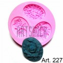 Силиконовый молд 3D (вайнер), камеи, диаметр 7.7 см., толщина 1.2 см., REGINA
